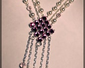 Swarovski Crystal and Pearl Silver Adelaide Necklace