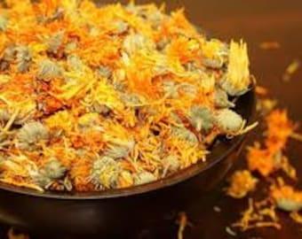 Calendula Flowers Whole 16 OZ Dried