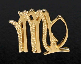 53 Virgo and Scorpio Gold Unity Pendant