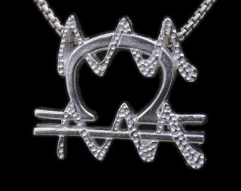 62 Libra and Aquarius Silver Unity Pendant