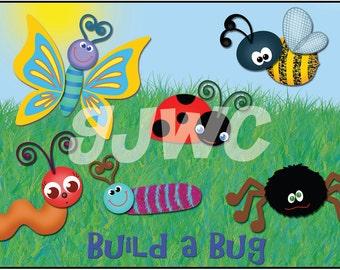 BUILD A BUG  Children's File Folder Game - Downloadable PDF Only