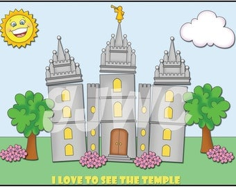 I LOVE to see the TEMPLE Children's File Folder Game - Downloadable PDF Only