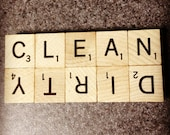Clean Dirty Scrabble Dishwasher Magnet