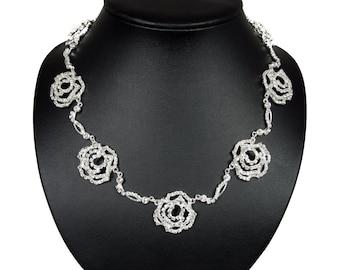 Rhinestone Necklace - Rosie Necklace with Rhinestones -  Wedding Necklace