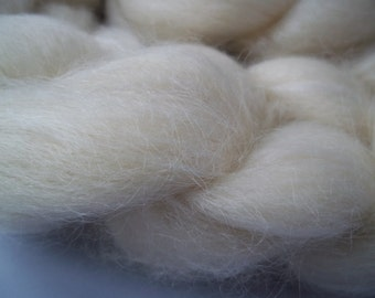 BFL, (Blue Faced Leicester), Kid Mohair, Spinning Fiber, Top/ Roving, 100g / 3.5oz