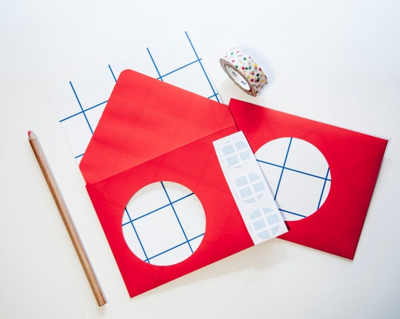 Cutout Circle Letter Set Grid: Red, White, & Blue