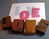 Transparent Love Letterpress Art Print