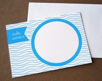 Make Waves Letterpress Note Card Set