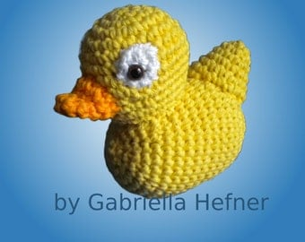 Amigurumi Pattern Bathing Duck
