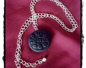 Oreo Cookie necklace