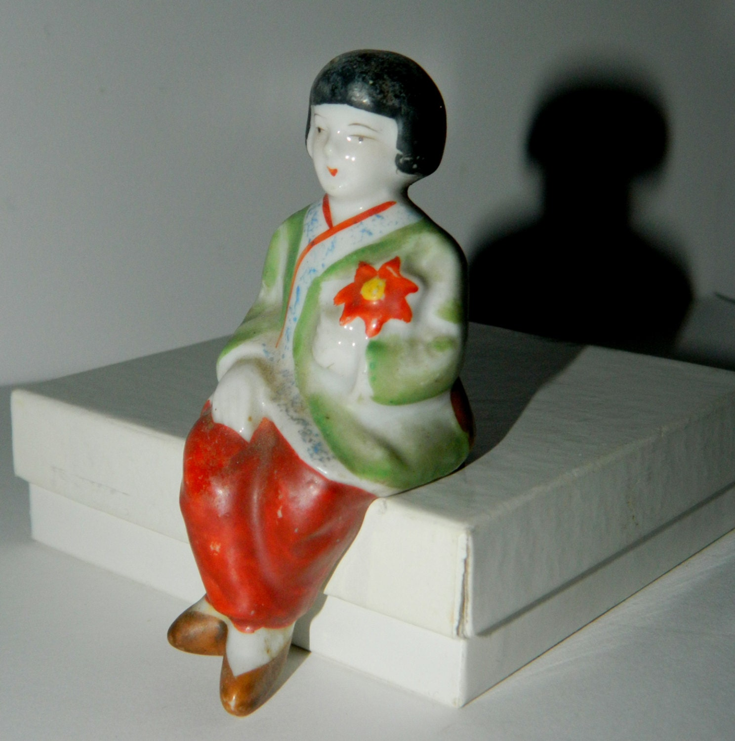 Vintage Japan Oriental Girl Shelf Sitter By TsVintiques On