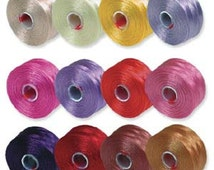 Superlon beading thread S-Lon size D nylon beading thread Black, Brown, Blue, Green, Gray, Gold, Yellow, Purple, Pink, Rose, Red, 1 spool.