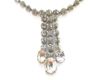 Rhinestone Drop Necklace Fringe Rinestone Chains