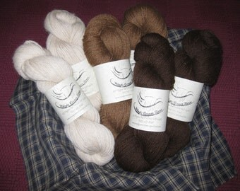 100% Alpaca Yarn, Sport Weight, 300 Yards/Skein