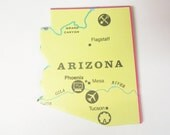 State of Arizona Magnet, Magnet of Arizona, by JustStated on etsy