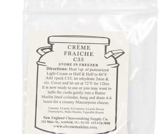 Artisan DIY Cheese Making Creme Fraiche Cheese Cultures 5 Pack
