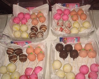 Sweet 16 Sampler Box of 16 cake pops, choose up to 4 different flavors. Sugar free, Vegan, Gluten free available