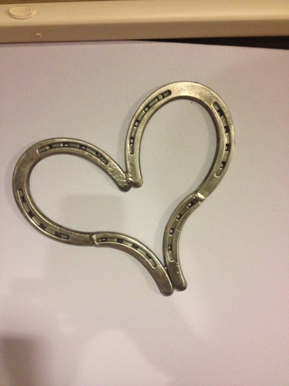 items similar to large heart made from 3 real horseshoes