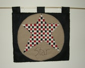 Star Checkerboard Wall Hanging