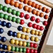 Vintage French Schoolroom Wooden Abacus.