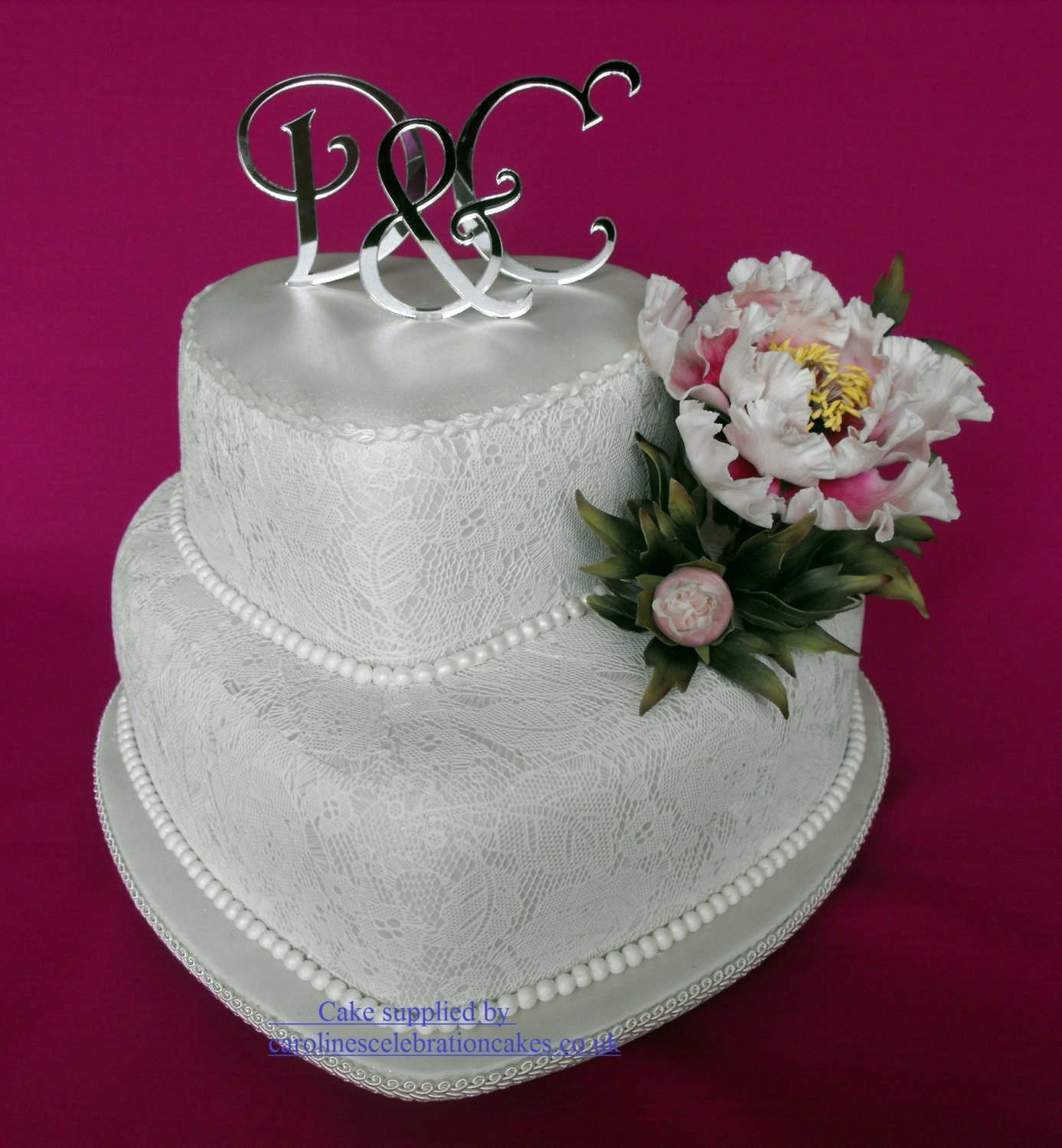 Brand New Monogram letters wedding cake toppers SET OF3
