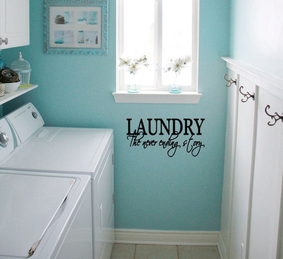 Laundry the never ending story vinyl wall decal small - Best colors for a laundry room ...