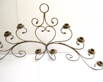 Metal candle holder, fireplace candle holder, wedding candles, centerpiece ,candelabra,