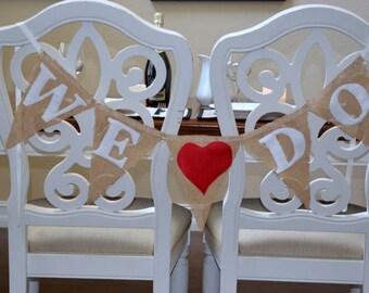 "Wedding Banner Photo Prop ""We Do"""