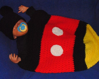 Mickey Mouse baby Cocoon Crochet PATTERN ONLY