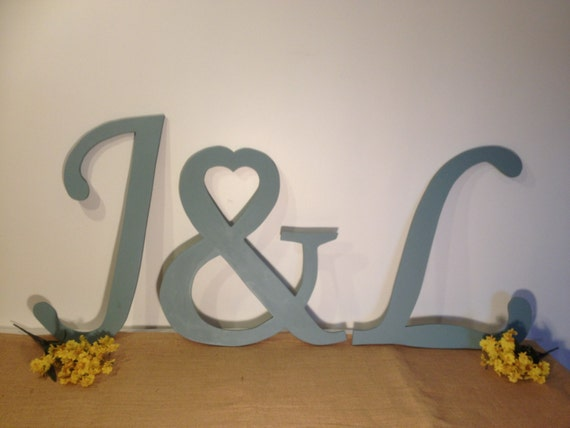 Large Wooden Letter Set Decorative Wall By TheDreamWeddingShop