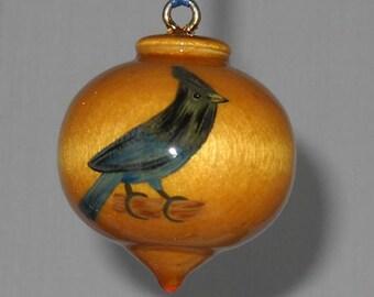 Wooden Christmas Ornament, Steller's Jay, WBO-55