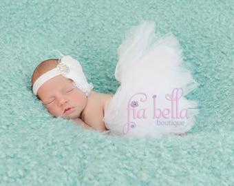 TUTU SKIRT...White Fluffy Tutu Skirt...Newborn Tutu...Baby Tutu...Toddler Tutu...Cakesmash Tutu...Birthday Tutu...Summer Dress