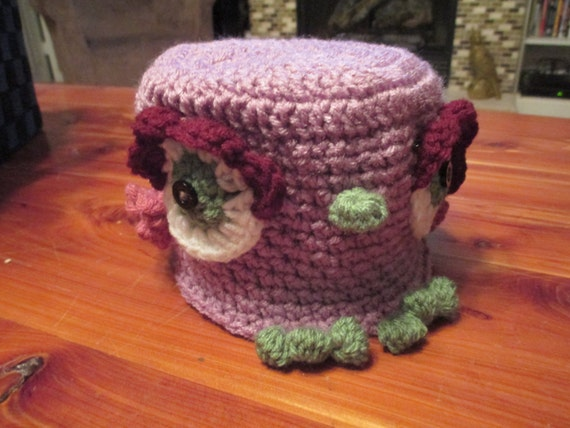 Crochet Owl Toilet Paper Cover