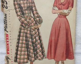 1940s Simplicity printed pattern (bust 34)