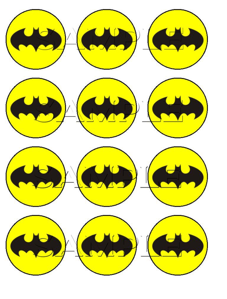 It's just a picture of Sassy Batman Cupcake Toppers Printable