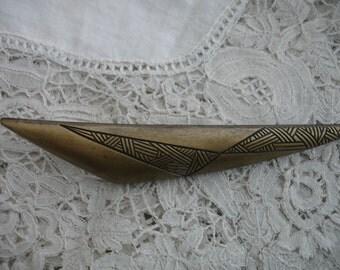 Retro  geometric brooch