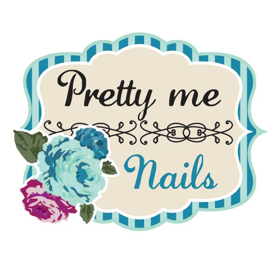 Beauty Logo Design Nail Salon With Floral Accents