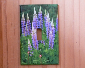 Wild Lupins single light switch cover