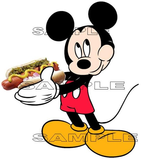 Disney Mickey Mouse Eating A Hot Dog Disney By Goscrapyourlife