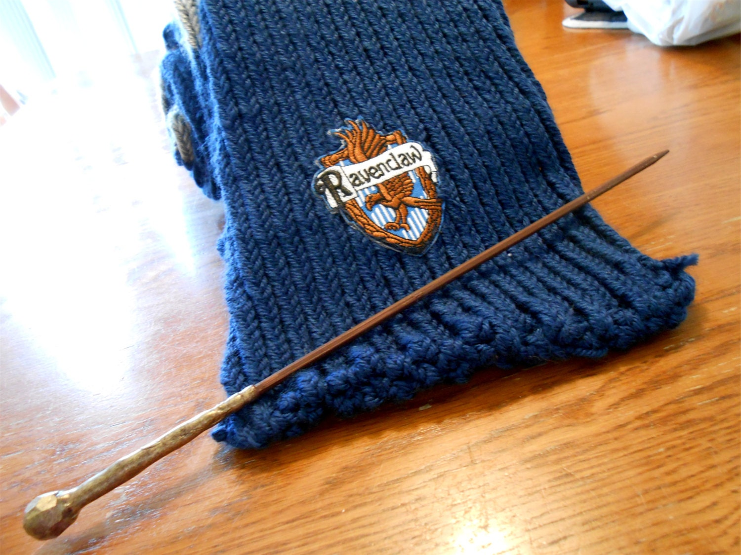 Knitted Ravenclaw Scarf
