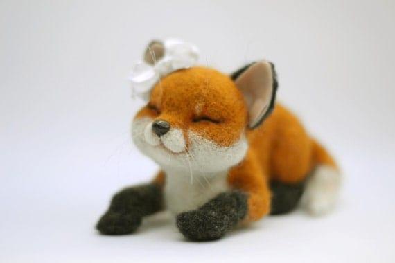 Needle felted fox Evy