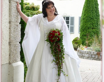Plus size, over size wedding dress, medieval, costum made