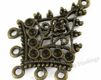 4 pc Antique Bronze Chandeliers Earrings Settings - Earrings Making Components Supplies -  EF017