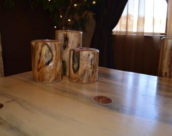 Handcrafted Aspen Candle Holders