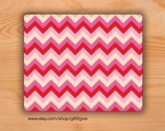Mousepad Chevron Pink