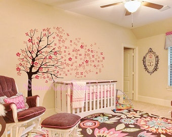 Nursery Wall Decal-Cherry Blossoms Tree Decal-DK002