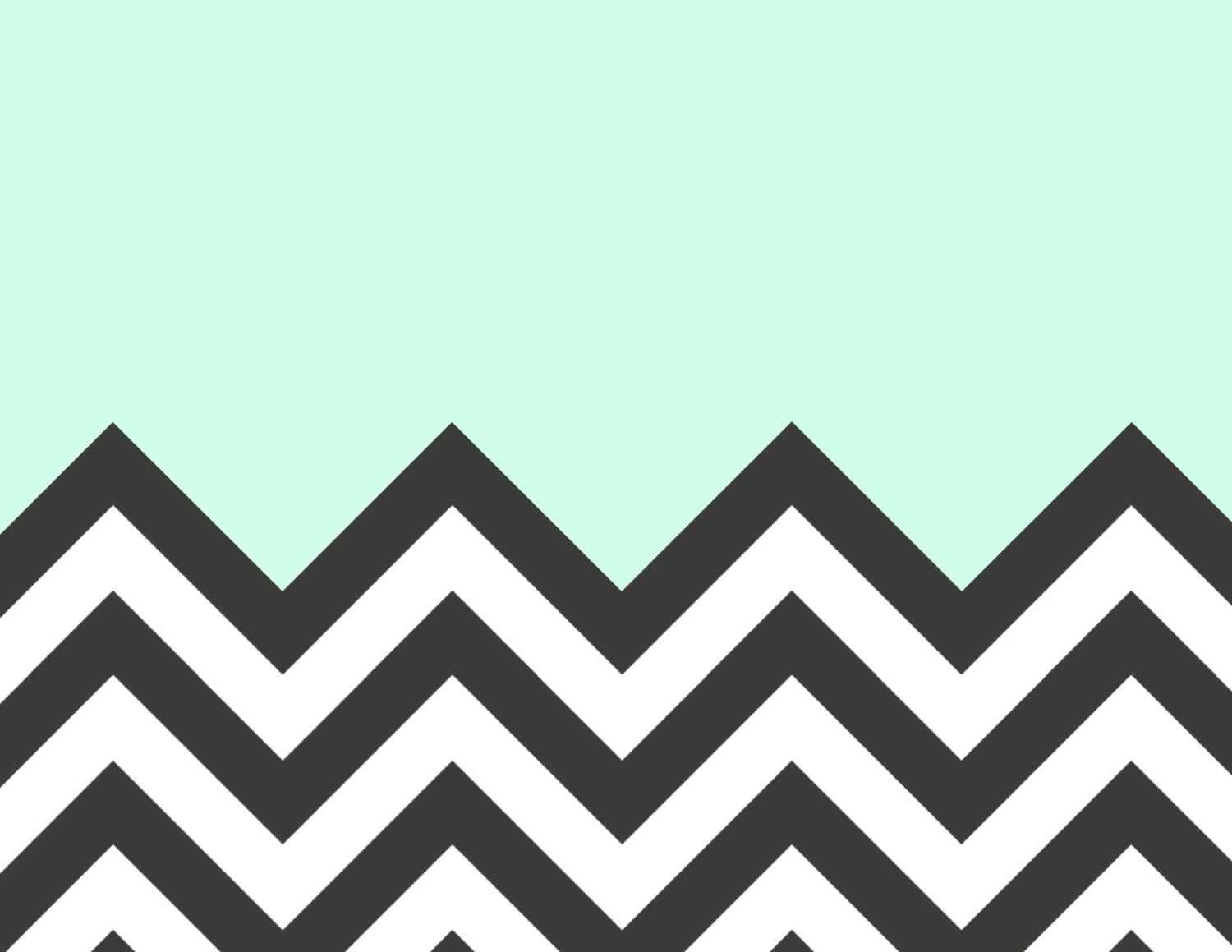Mint And Coral Chevron Background Chevron Art Print in C...