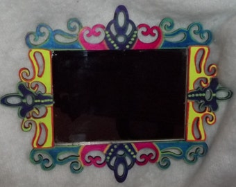 Bohemian Hand Painted Wall or Table top Mirror for Home Decor