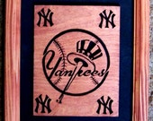 New York Yankees Framed Scroll Saw Art