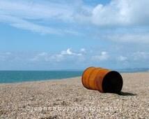 Chesil Beach,  on the Jurassic Coast (UNESCO World Heritage Site), Dorset, England 10 x 8